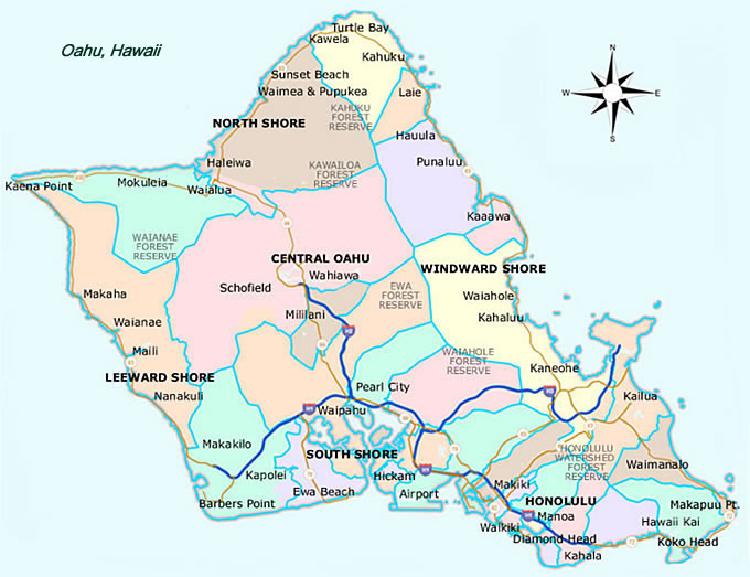 Zip Code Map Oahu | Zip Code MAP