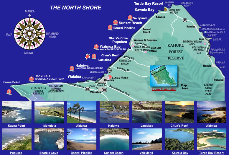 About The North Shore, Oahu, Hawaii