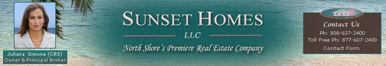 Sunset Homes LLC - North Shore Hawaii Real Esatate Company